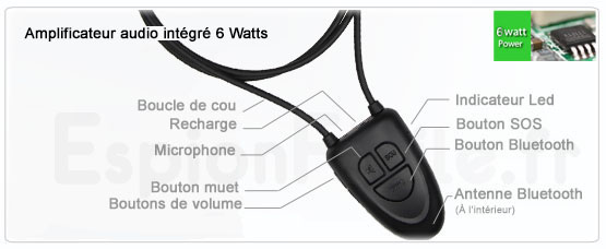 Notice du collier bluetooth